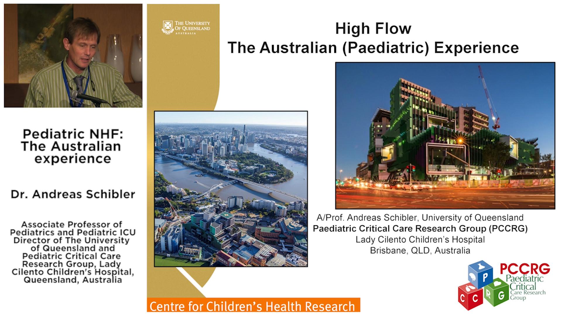 Pediatric NHF: The Australian experience - Dr Andreas Schibler