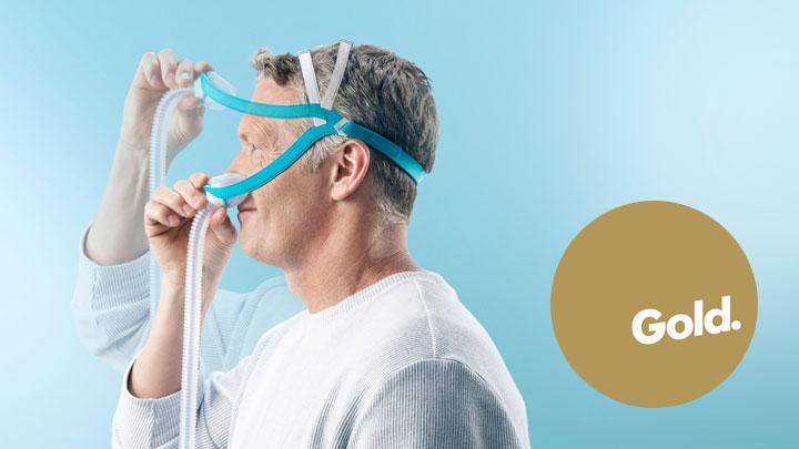 Award winning F&P Evora Nasal mask