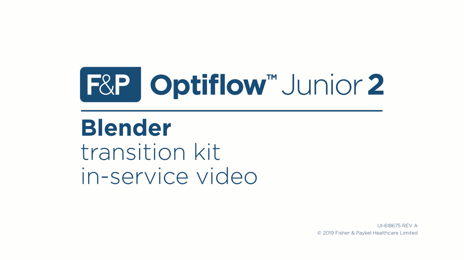 Optiflow Junior 2 Blender Transition Kit In-Service Video