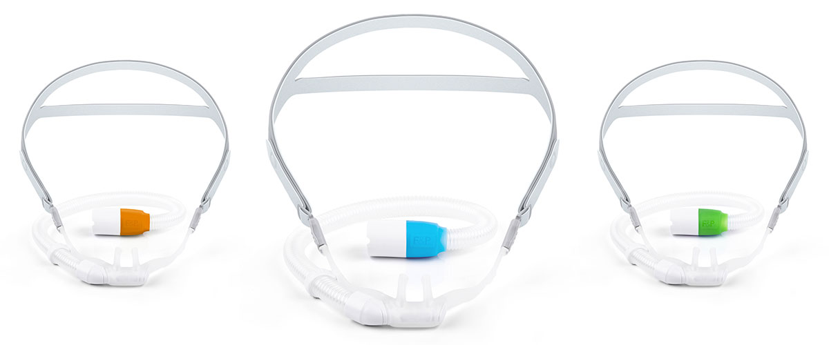 F&P Optiflow 3S Nasal Cannula available in three sizes