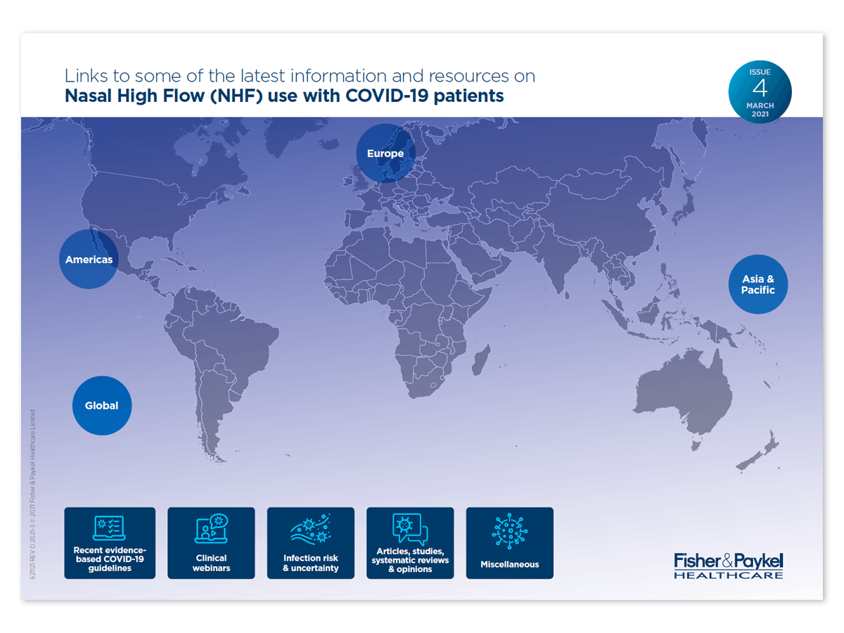 Links to some of the latest information and resources on NHF use with COVID-19
