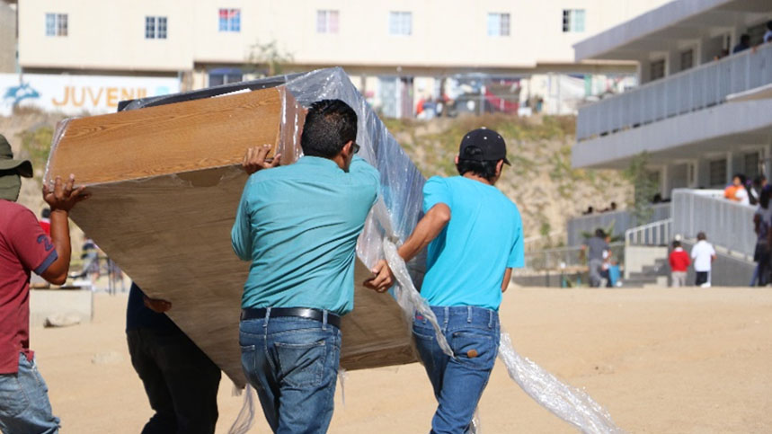 Surplus furniture from Mexico office donated to school in Tijuana
