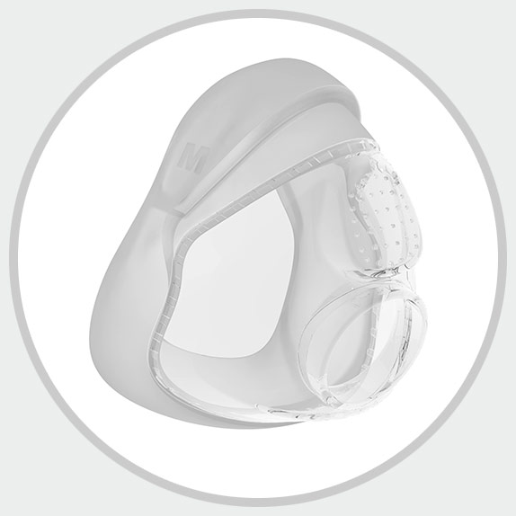 F&P Simplus Full Face Mask seal designed for comfort