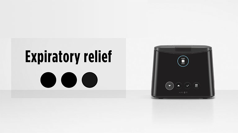 Changing your comfort settings | Expiratory relief