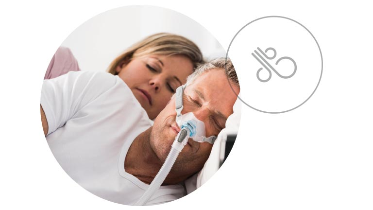 Expiratory relief is designed to automatically relieve air pressure every time you breathe out