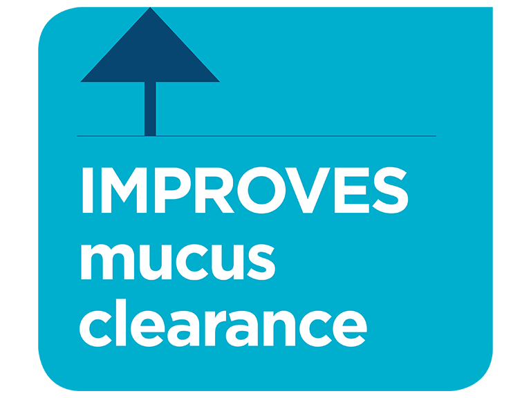 Optiflow improves mucus clearance infographic