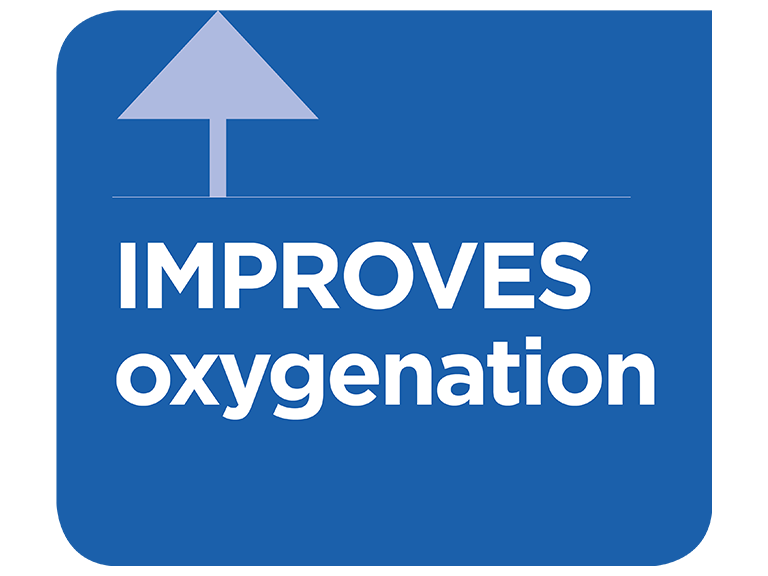 Physiological effect of improved oxygenation infographic