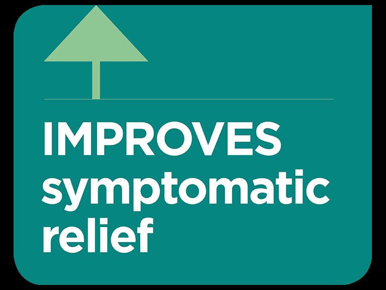 Optiflow improves symptomatic relief infographic