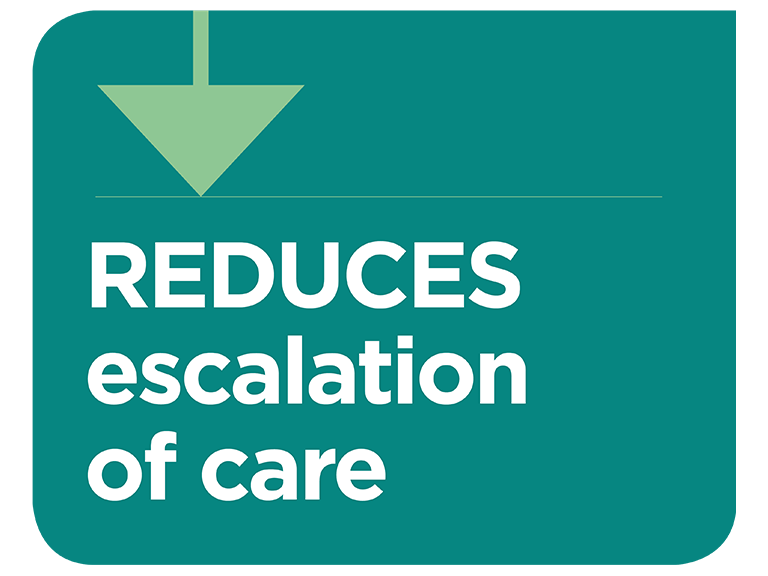 Optiflow reduces escalation of care in clinical practice infographic