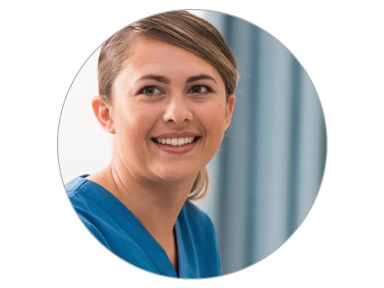 Woman nurse smiling