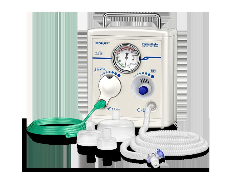 Dispositivo de respiración para lactantes Neopuff