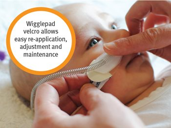 Wigglepad velcro allows easy re-application