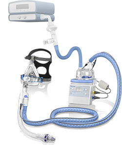 CPAP with PEEP valve breathing circuit kit