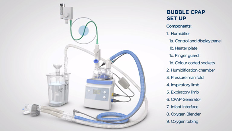 Bubble CPAP set up guide