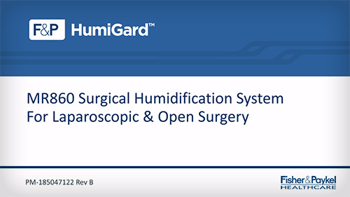 MR860 Surgical Humidification System Setup