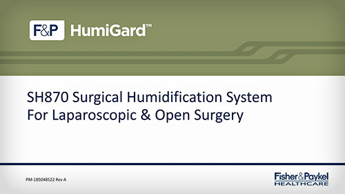 SH870 Surgical Humidification System Setup