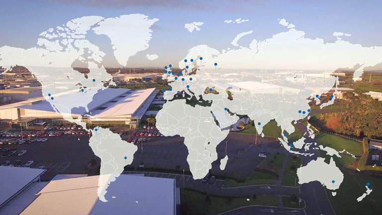 Global map of Fisher & Paykel Healthcare locations